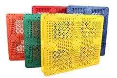 group of plastic pallets for sale at TranPak