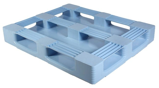 Bottom of SaniPal 48x40 plastic pallet for FDA applications