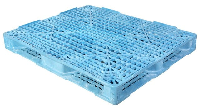 Valley Blue 48x40 plastic pallet for FDA applications