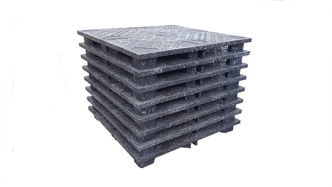 48x48 Proteus Plastic Pallet Stacked