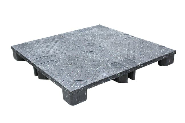45x45 Plastic Reusable Solid Top Pallet