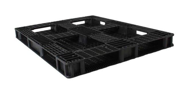 Bottom of HD Racker 56x44 plastic pallet for racking