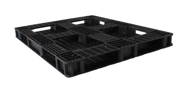 Bottom of HD Racker 56x44 plastic pallet for racking