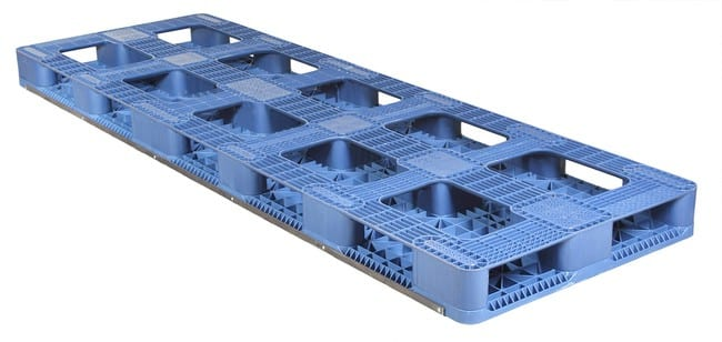 Bottom of 108x36 Stackable Plastic Pallet