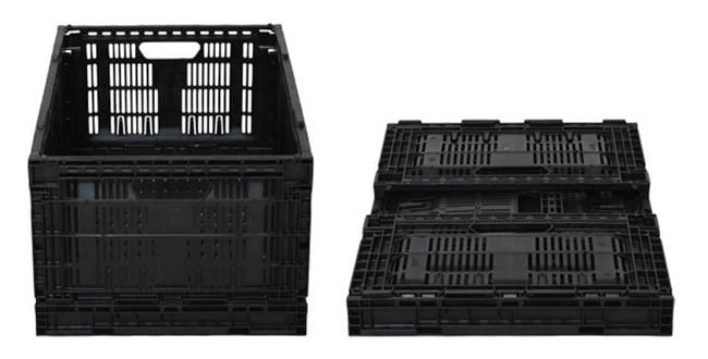 11.61 Returnable Plastic Crates are collapsible for easy storage