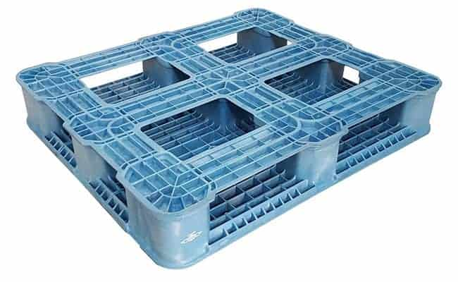 Bottom of 40x34 Reusable Plastic Pallet