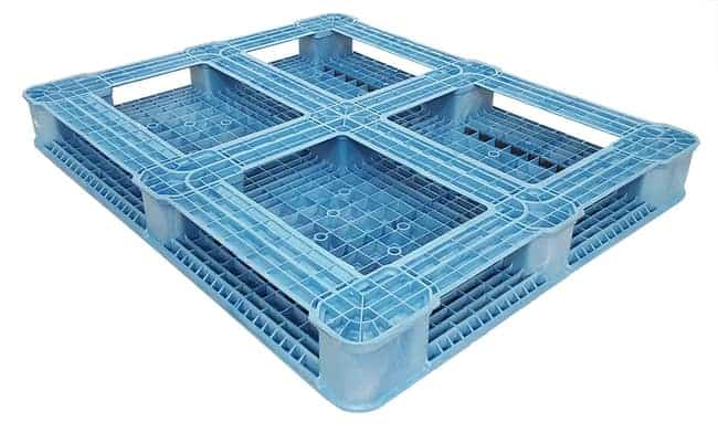 Bottom of 58x48 Solid-Top Plastic Pallet