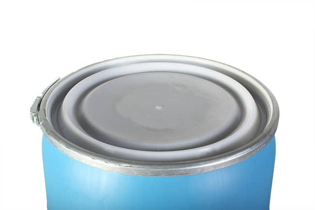55 Gallon Open-Top Drum in Blue - Plain Lid