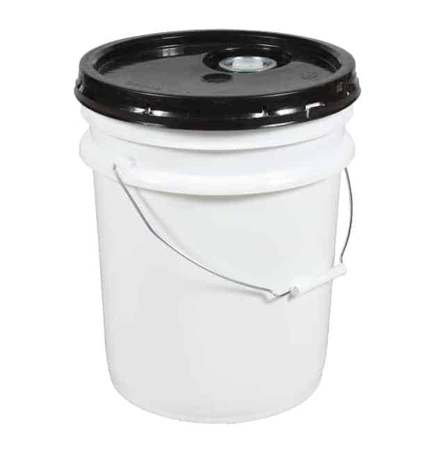 5 Gallon Pail with Black Lid Attached