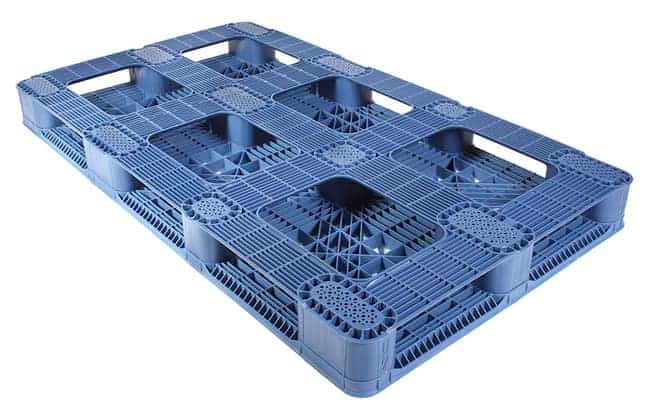 Bottom of 70x40 Stackable Blue Plastic Pallet