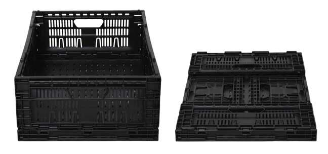 8.23 Returnable Plastic Crates are collapsible for easy storage