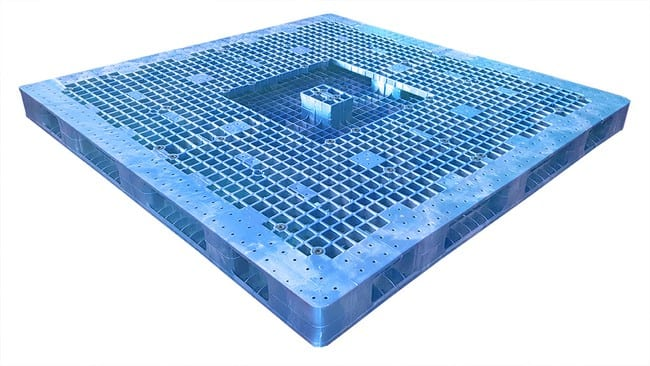 Bottom of 84x84 Plastic Stackable Pallet