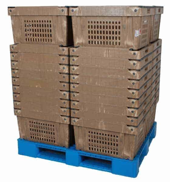 Fresh Tote Handheld Plastic Crate Stack