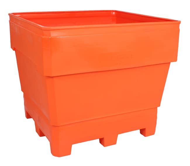 MegaBin 200 Series Rotational Molded Plastic Bin - Orange Color