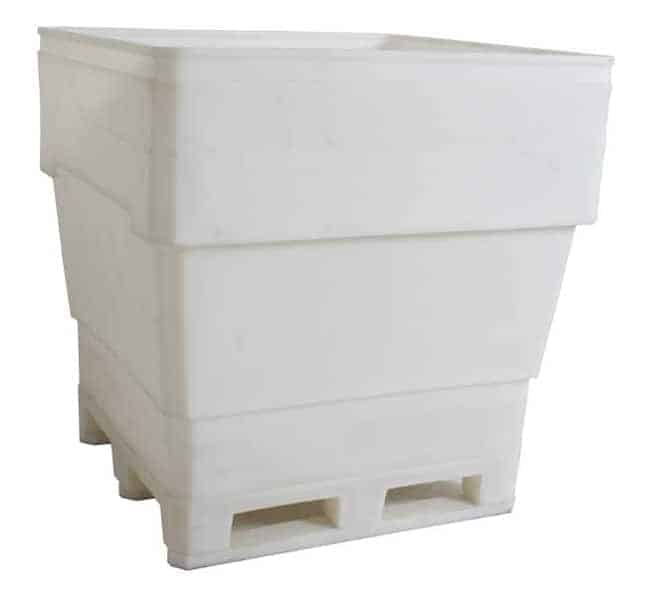 MegaBin 200 Series Rotational Molded Plastic Bin- Roll Over Base