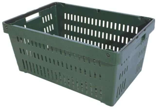 Versacrate 10.5 handheld plastic stack and nest crate
