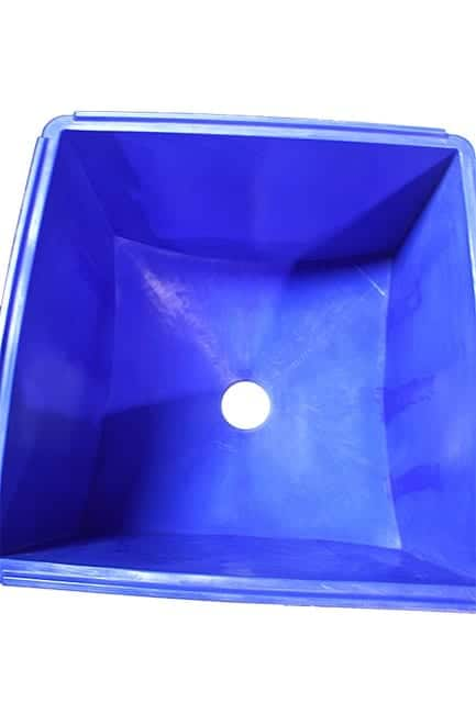 Inside Cyclone Plastic Hopper Bin by TranPak