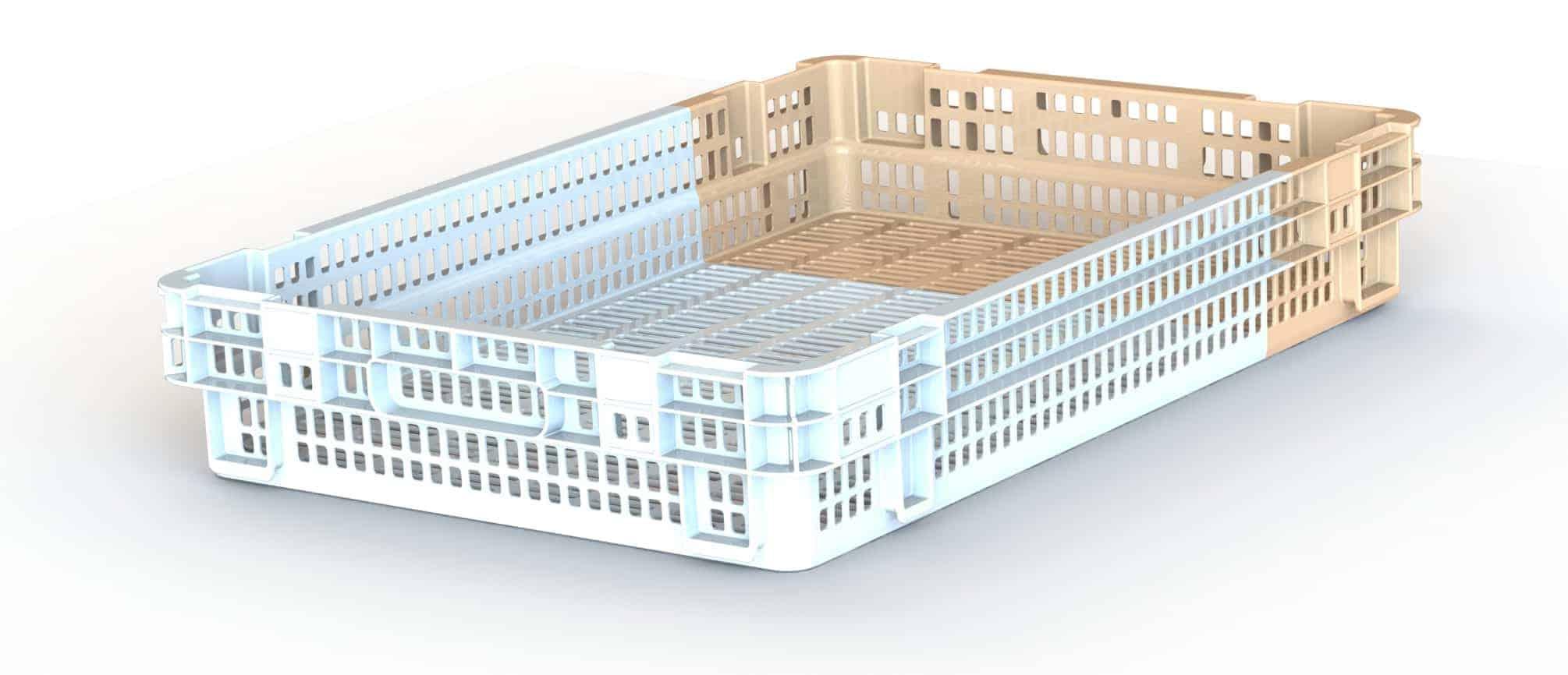 Date Crate - in tan