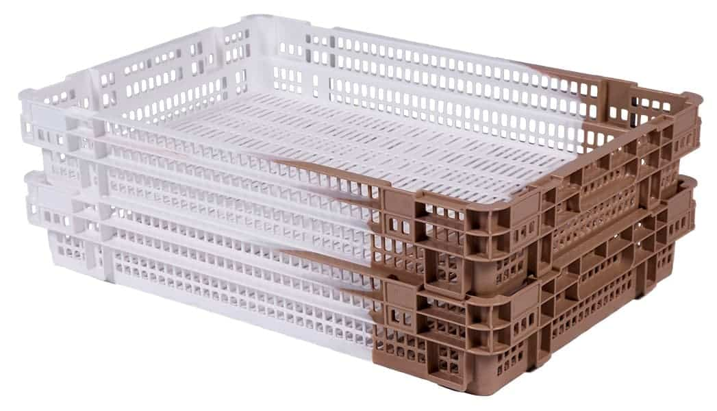 Date Crate in tan - Stacked