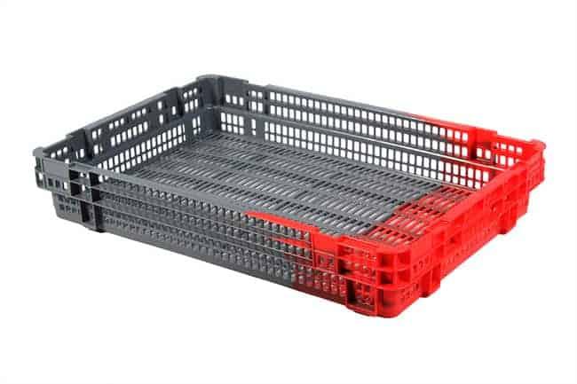 Date Crate vented handheld plastic crate