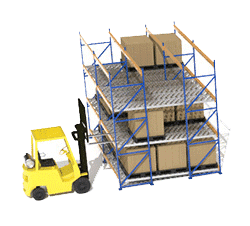 Flow racking is one of the popular pallet racking styles