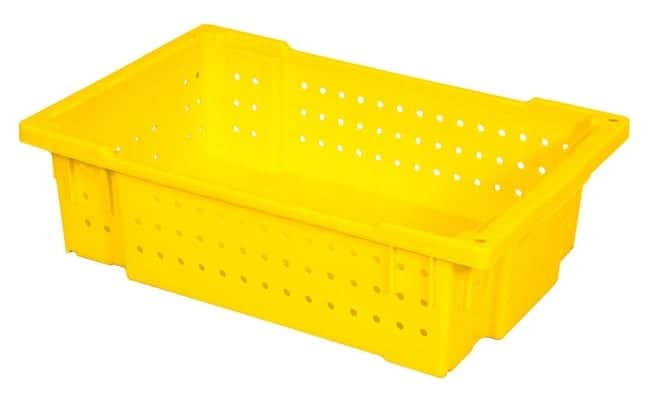 OmniCrate Vented Sides and Solid Bottom Handheld Plastic Crate