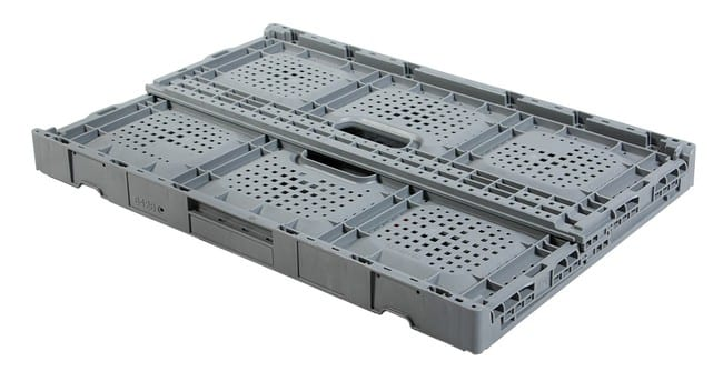 Collapsed Returnable Plastic Crate 64x26
