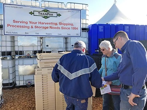 Jon Working Helping Customers at the 2018 World Ag Expo