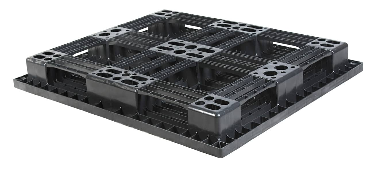 Bottom of CP7 1300x1100 Plastic Pallet