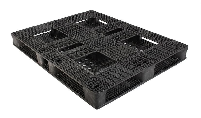 Bottom of 56x44x5.1 Plastic Reusable Pallet