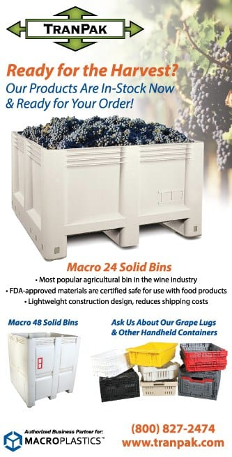 TranPak Has Wine Industry Products In-Stock and Ready for the Crush Season