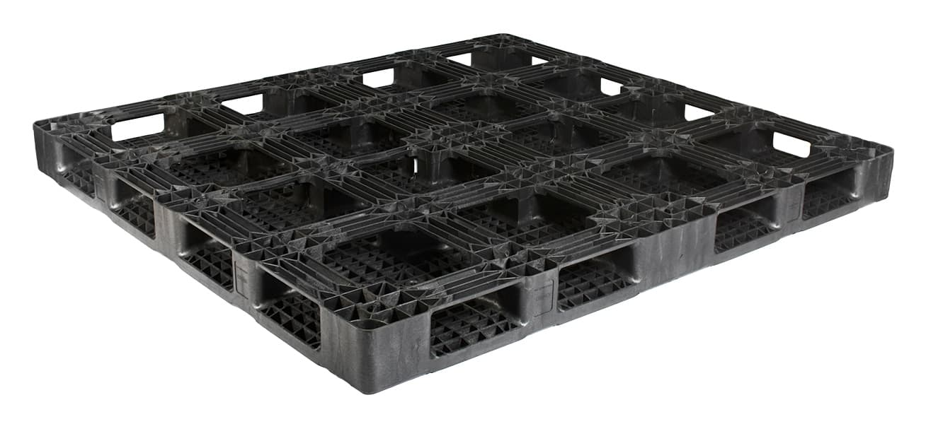 Bottom of 87x80 Reusable Plastic Pallet