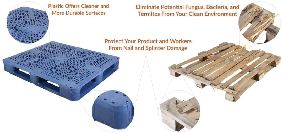 Advantages of plastic pallets vs wood pallets